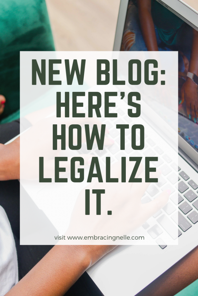 New Blog Here's How To Legalize It.